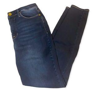 Seven7 High Rise Dark Denim Skinny Jeans